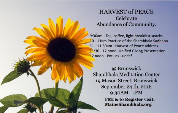Harvest of Peace- 2016