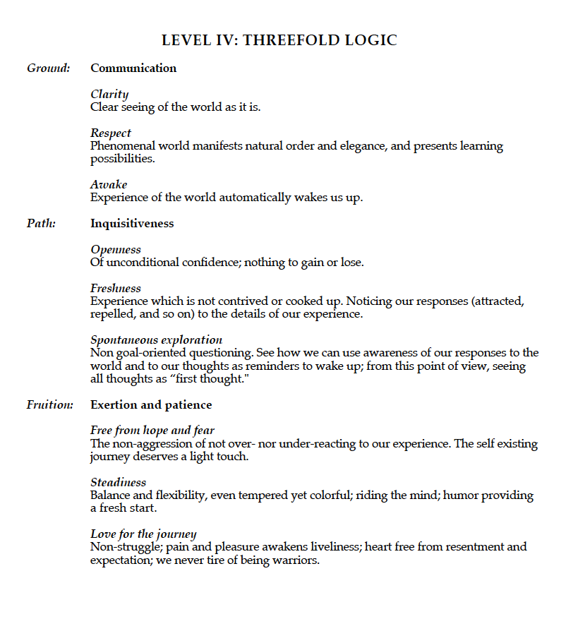 Level IV Threefold Logic